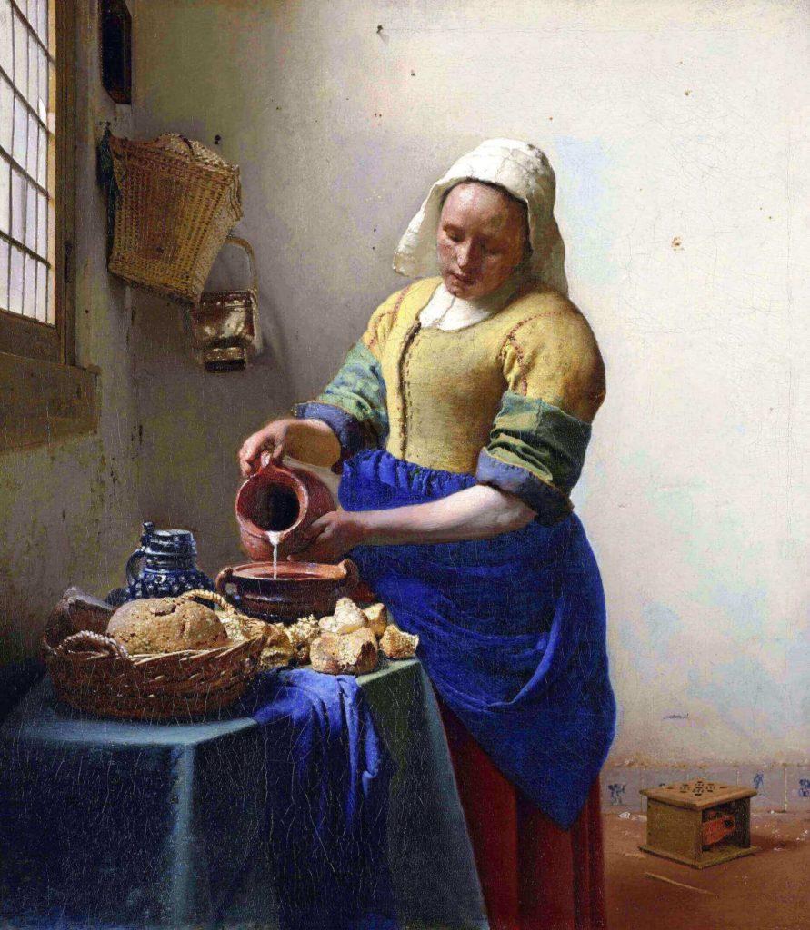 "Ян Вермеер, 1658-1651 гг., картина ""Молочница"", фото: muzei-mira.com"
