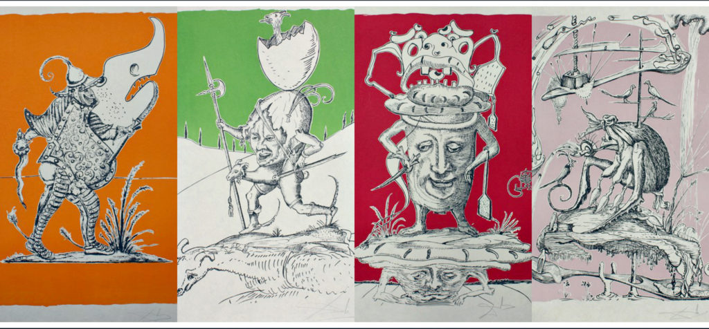 Сальвадор Дали. Серия «Человеческие пороки», 1973 год, коллаж