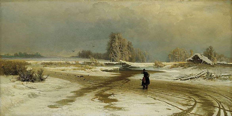Оттепель. Федор Васильев, 1871 год, Третьяковка
