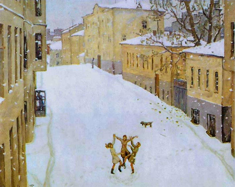 Первый снег, Игорь Попов, Третьяковка