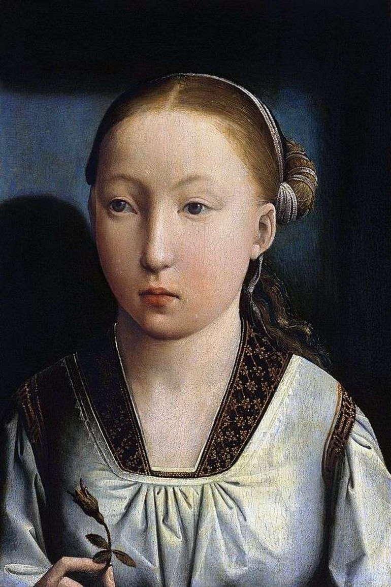 Портрет девушки. Хуан де Фландес, 1500-1510 годы, Музей Тиссена-Борнемиса Манрид