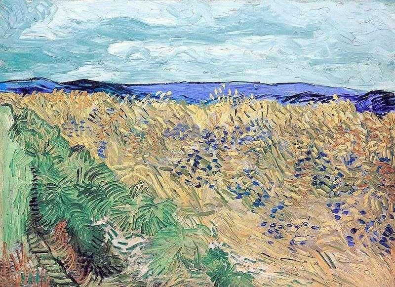 """В.Ван Гог, картина """"Пшеничное поле с васильками"""", 1890 год, фото: art.goldsoch.info"""