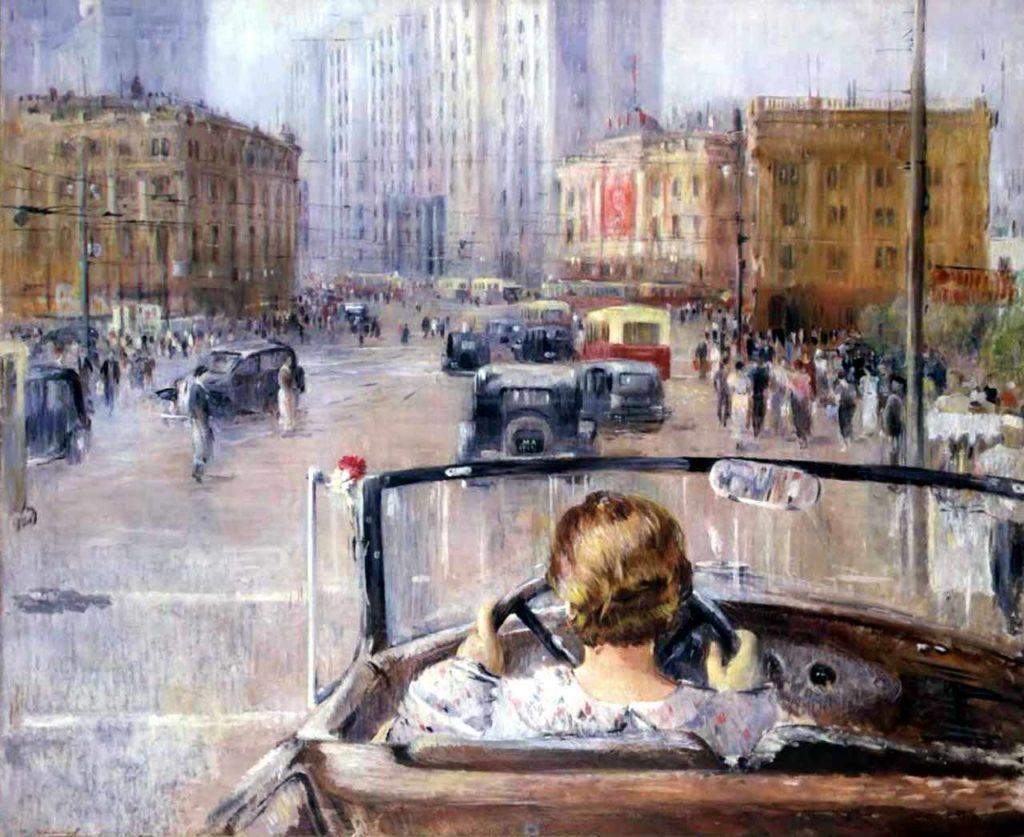"Ю.Пименов, картина ""Новая Москва"", 1937 год, фото: regnum.ru"
