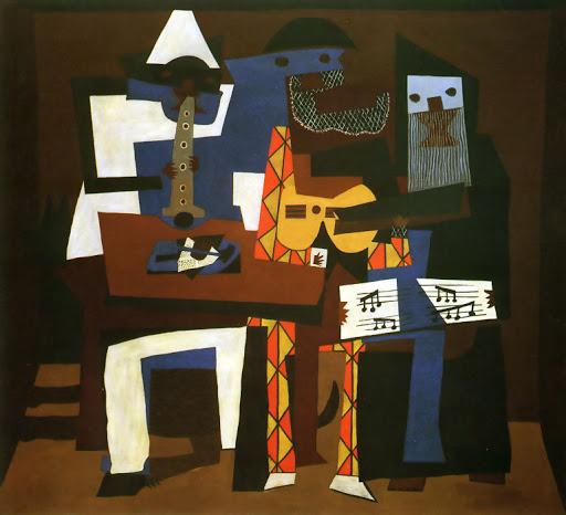 """П.Пикассо, картина """"Три музыканта"""", 1921 год, фото: http://picassolive.ru/"""