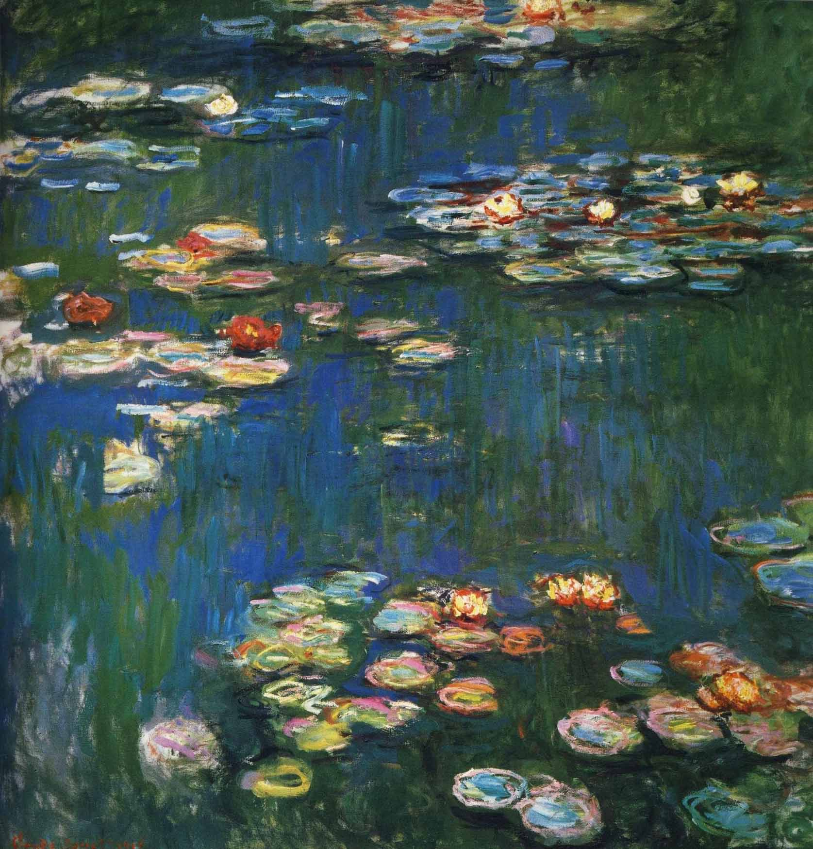 Клод Моне, 1914-1917 годы, картина «Кувшинки».
