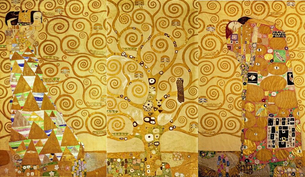 Густав Климт, 1905-1909 годы, картина «Древо жизни».