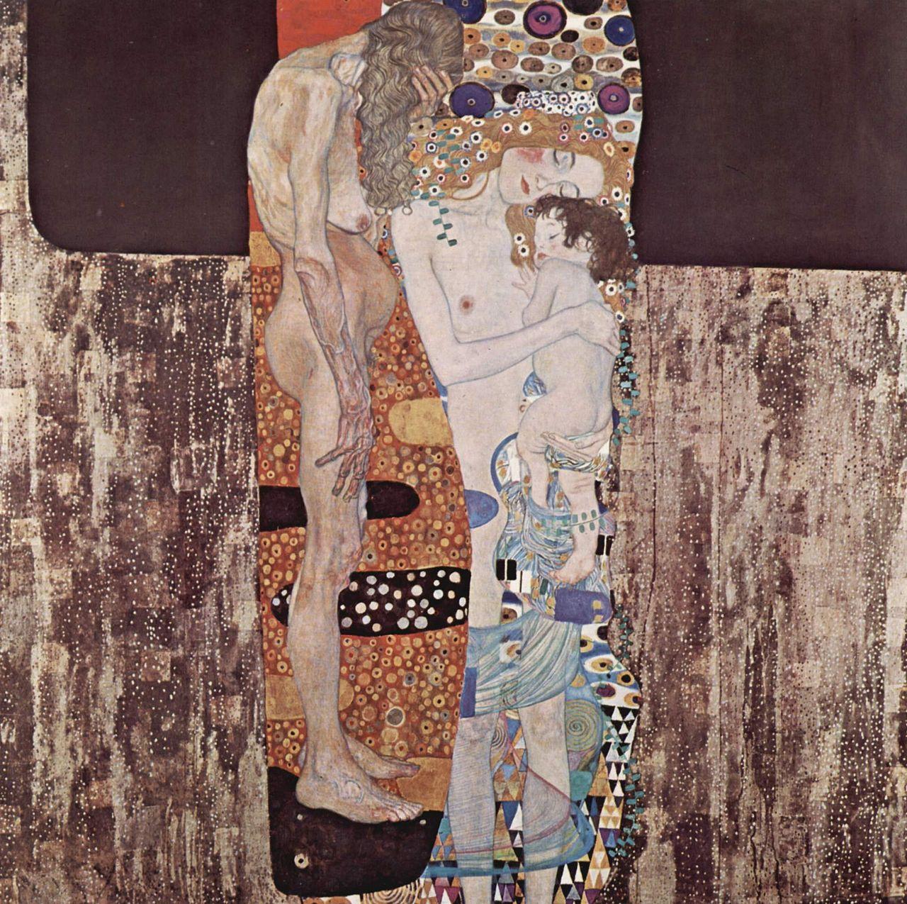 Густав Климт, 1905 год, картина «Три возраста женщины».