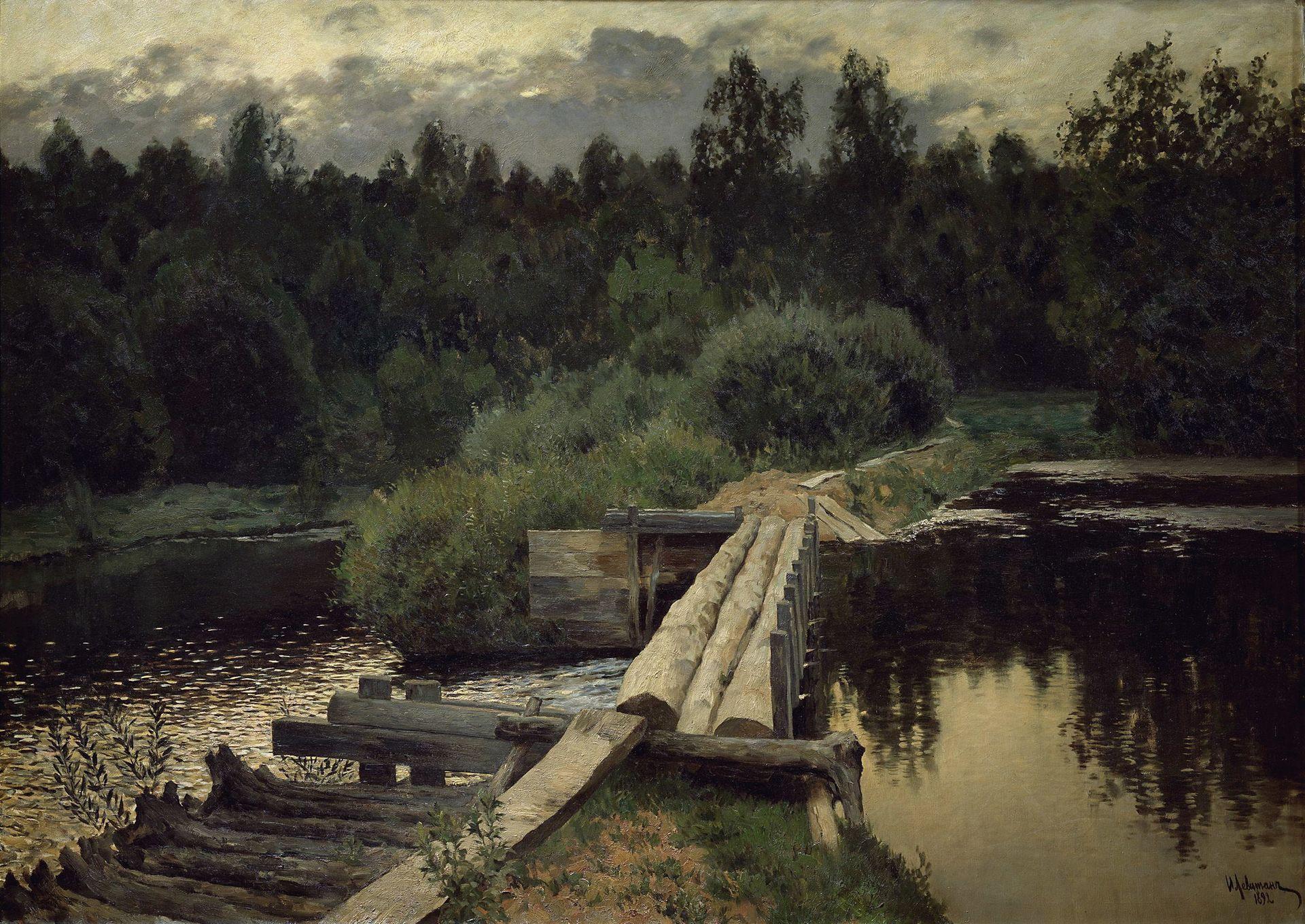 Исаак Левитан, 1892 год, картина «У омута».