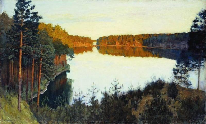 Исаак Левитан, 1890-1895 годы, картина «Лесное озеро».
