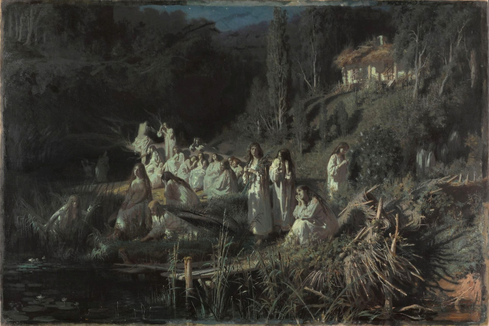 Описание картины Ивана Крамского «Русалки»