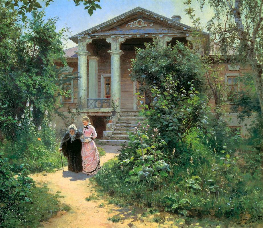 Василий Поленов, 1878 год, картина «Бабушкин сад»