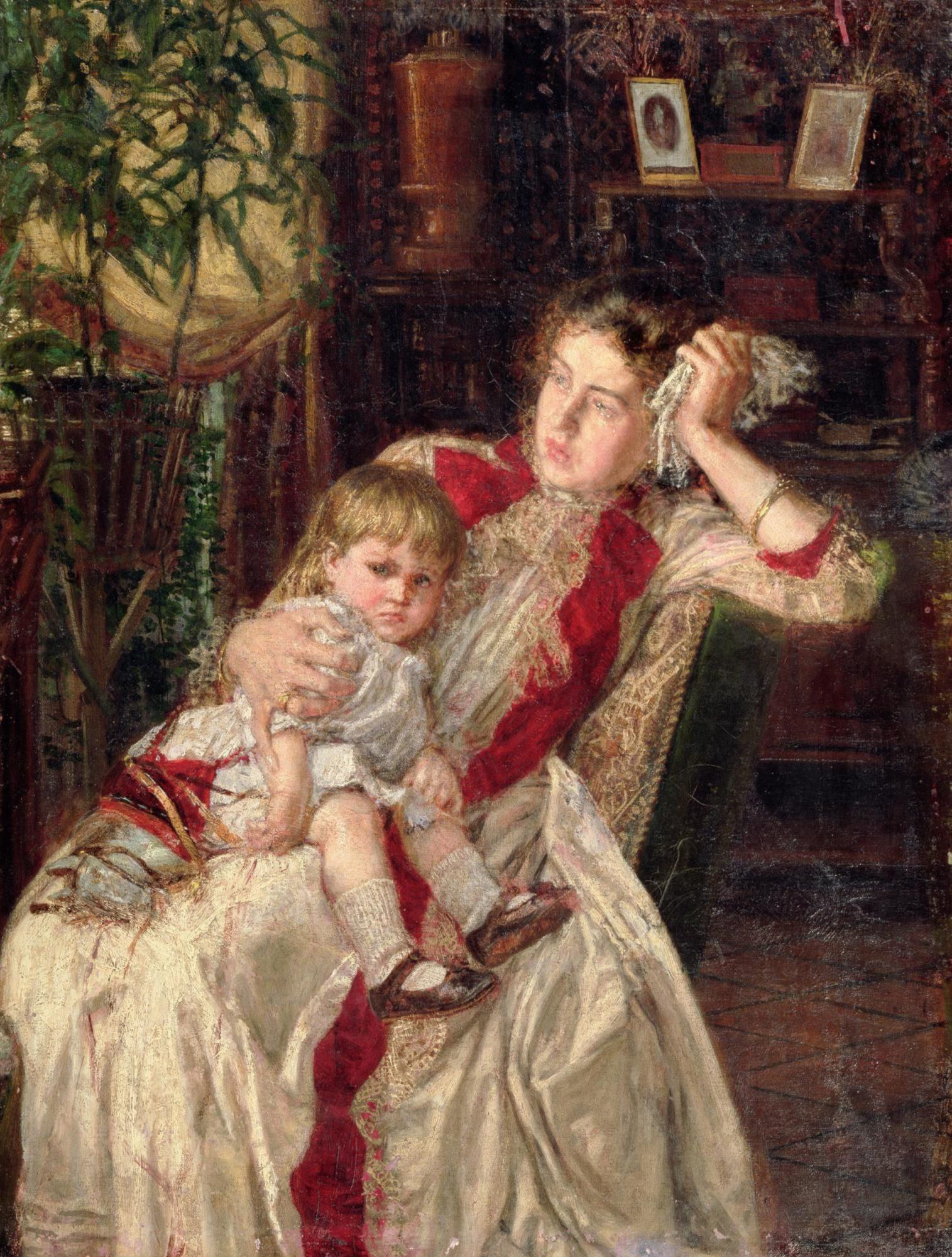 Константин Савицкий, 1890 год, картина «Семейная ссора».