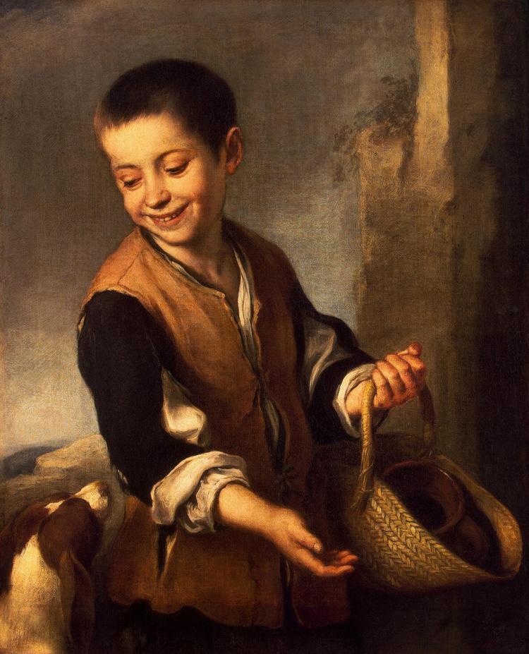 """Описание картины Бартоломе Мурильо """"Мальчик с собакой"""""""