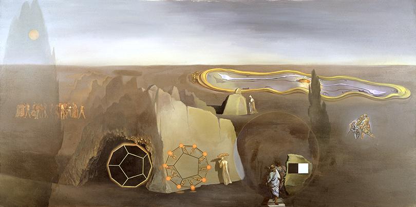 Сальвадор Дали, 1979 год, картина «В поисках четвертого измерения».