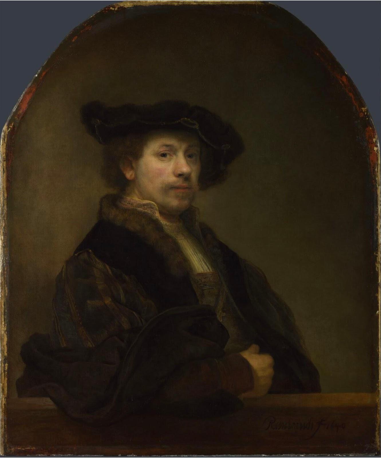"""Описание картины """"Автопортрет в возрасте тридцати четырех лет"""" Рембрандта"""