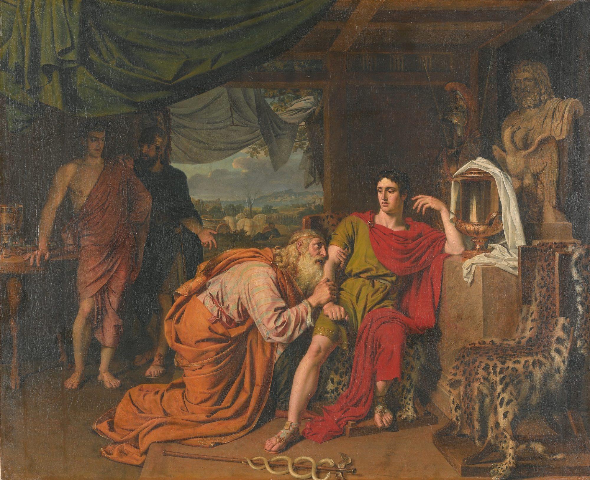Александр Иванов, 1824 год, картина «Приам, испрашивающий у Ахиллеса тело Гектора».