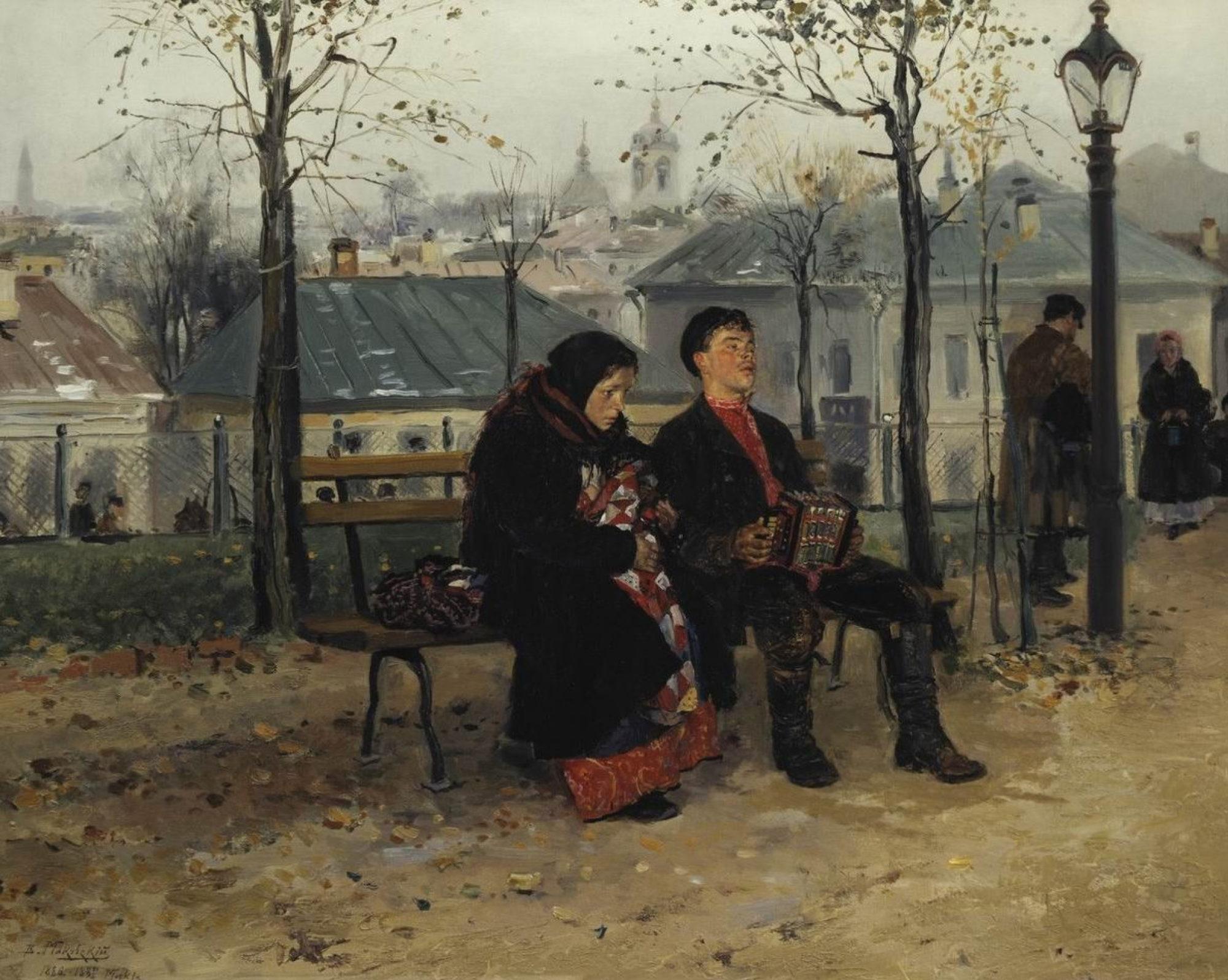 Константин Маковский, 1887 г., картина «На бульваре». Фото: 5sec.info