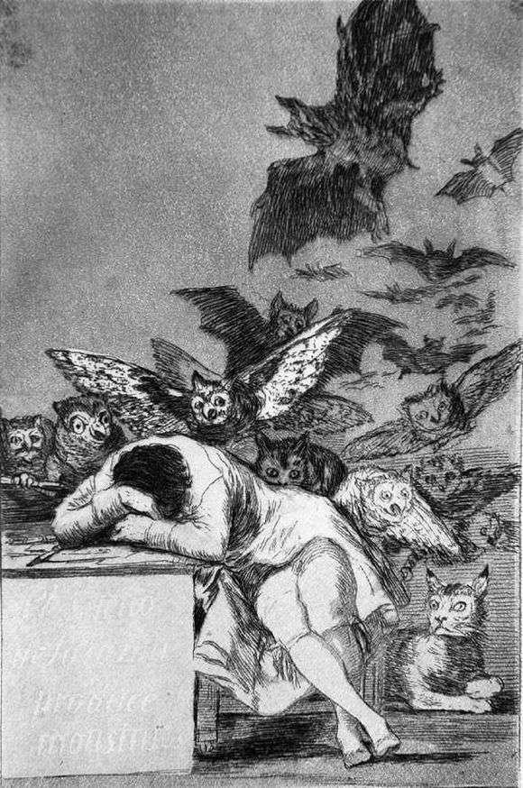 """Описание картины """"Сон разума рождает чудовищ"""" Франсиско Гойи"""