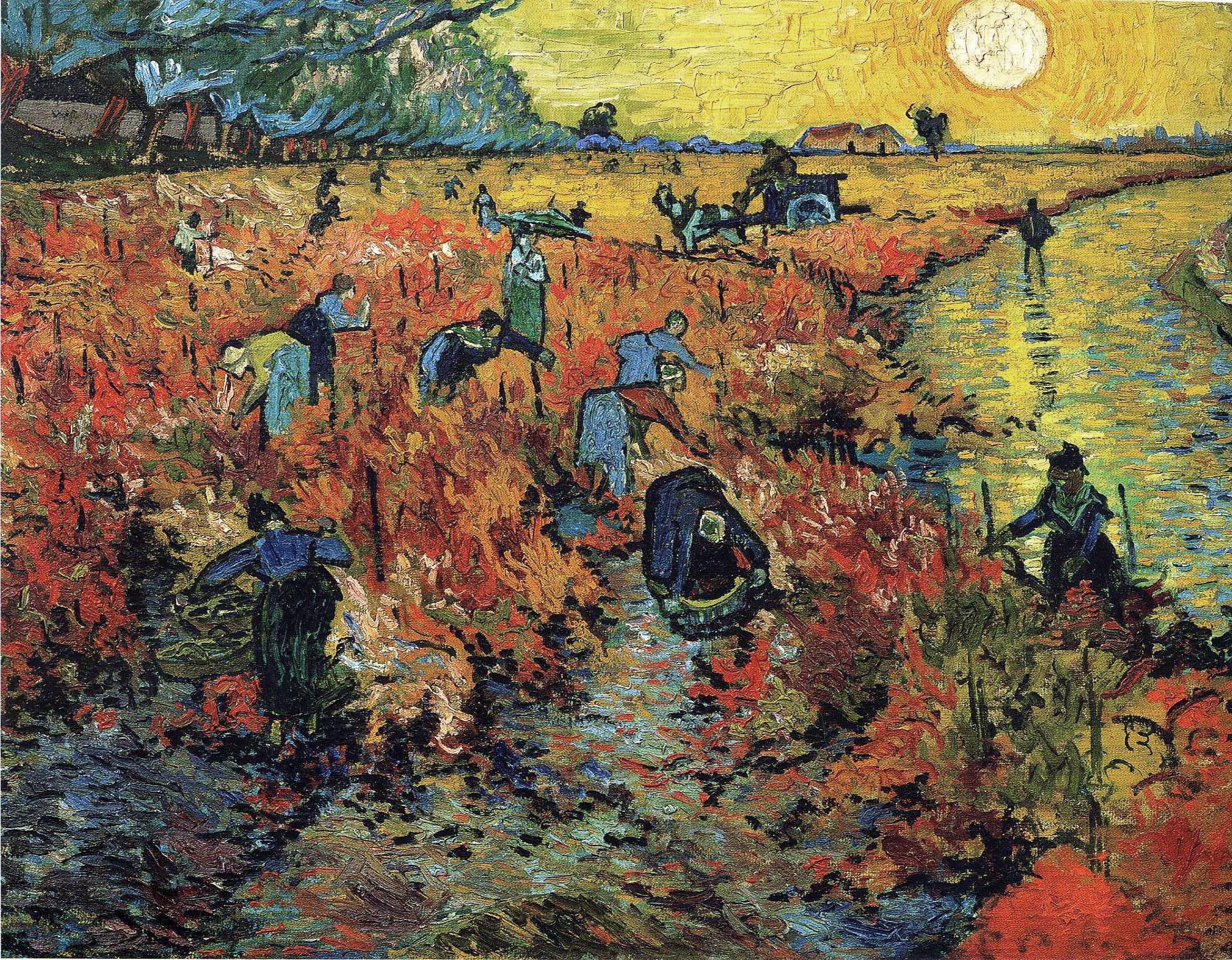 Красные виноградники в Арле. Винсент ван Гог, 1888 год, Государственный музей изобразительных искусств имени А. С. Пушкина,Москва.