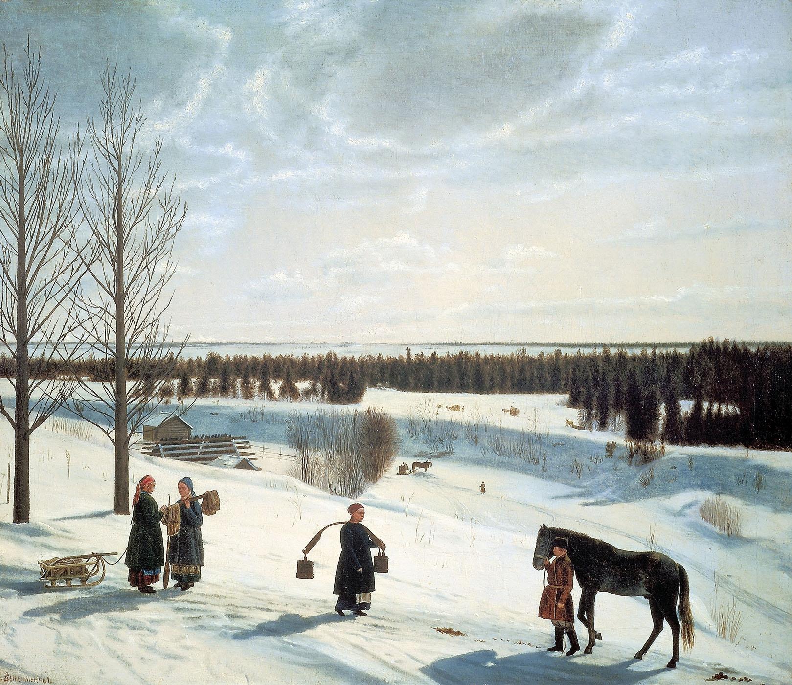 Никифор Крылов, 1827 год, картина «Русская зима»