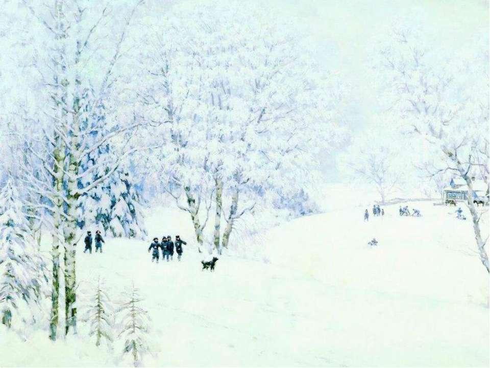 Константин Юон, 1947 год, картина «Русская зима. Лигачево»