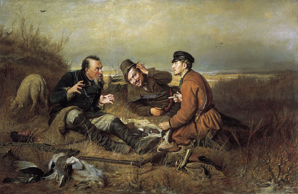 Василий Перов, 1871 год, картина «Охотники на привале»