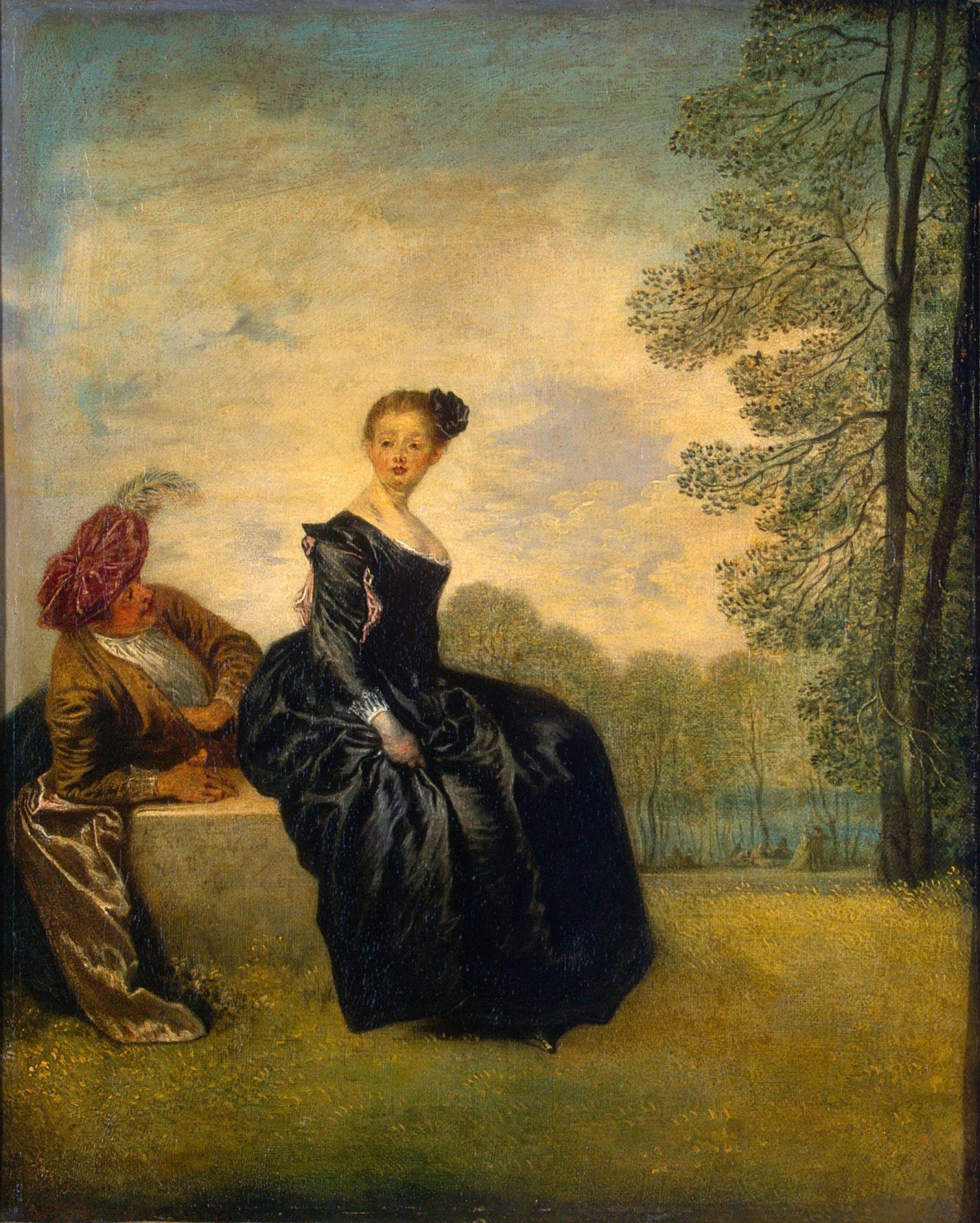 Капризница. Антуан Ватто, 1718 год, Эрмитаж, Санкт-Петербург.