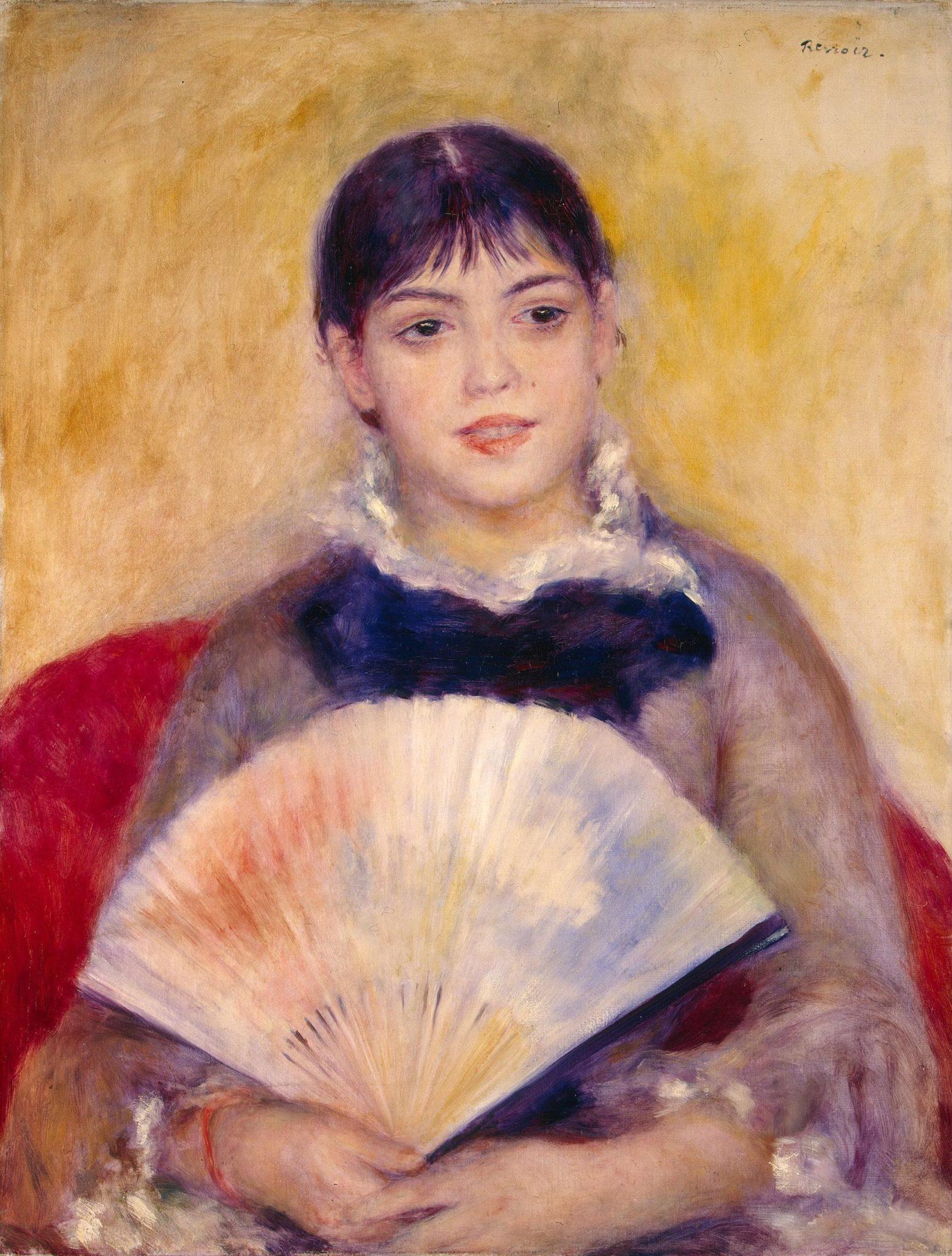 Пьер Огюст Ренуар, «Девушка с веером», 1881 год, Эрмитаж, Санкт-Петербург.
