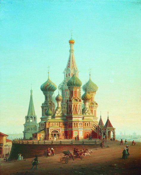 Алексей Боголюбов, 1870-е годы, картина «Храм Василия Блаженного».