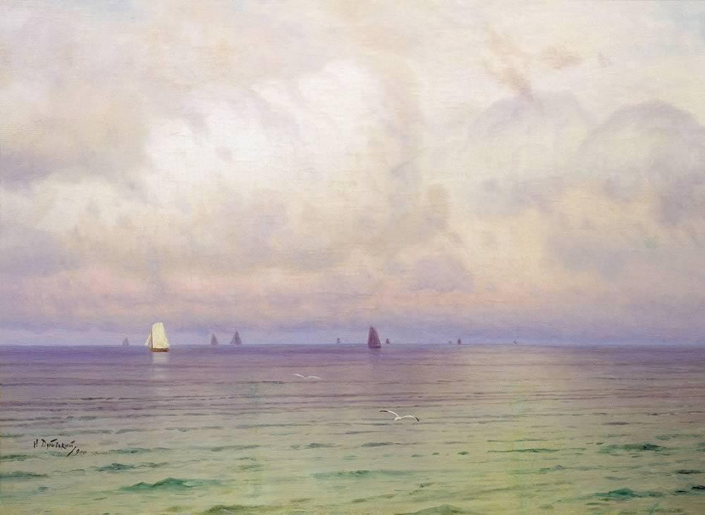 Николай Дубовской, 1900 год, картина «Море. Парусники».