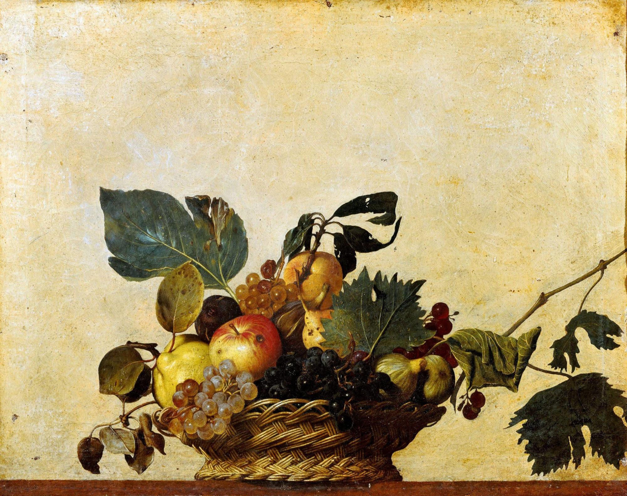 Микеланджело Караваджо, 1596 год, картина «Корзина с фруктами».