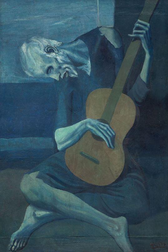 Пабло Пикассо, 1903 год, картина «Старый гитарист».