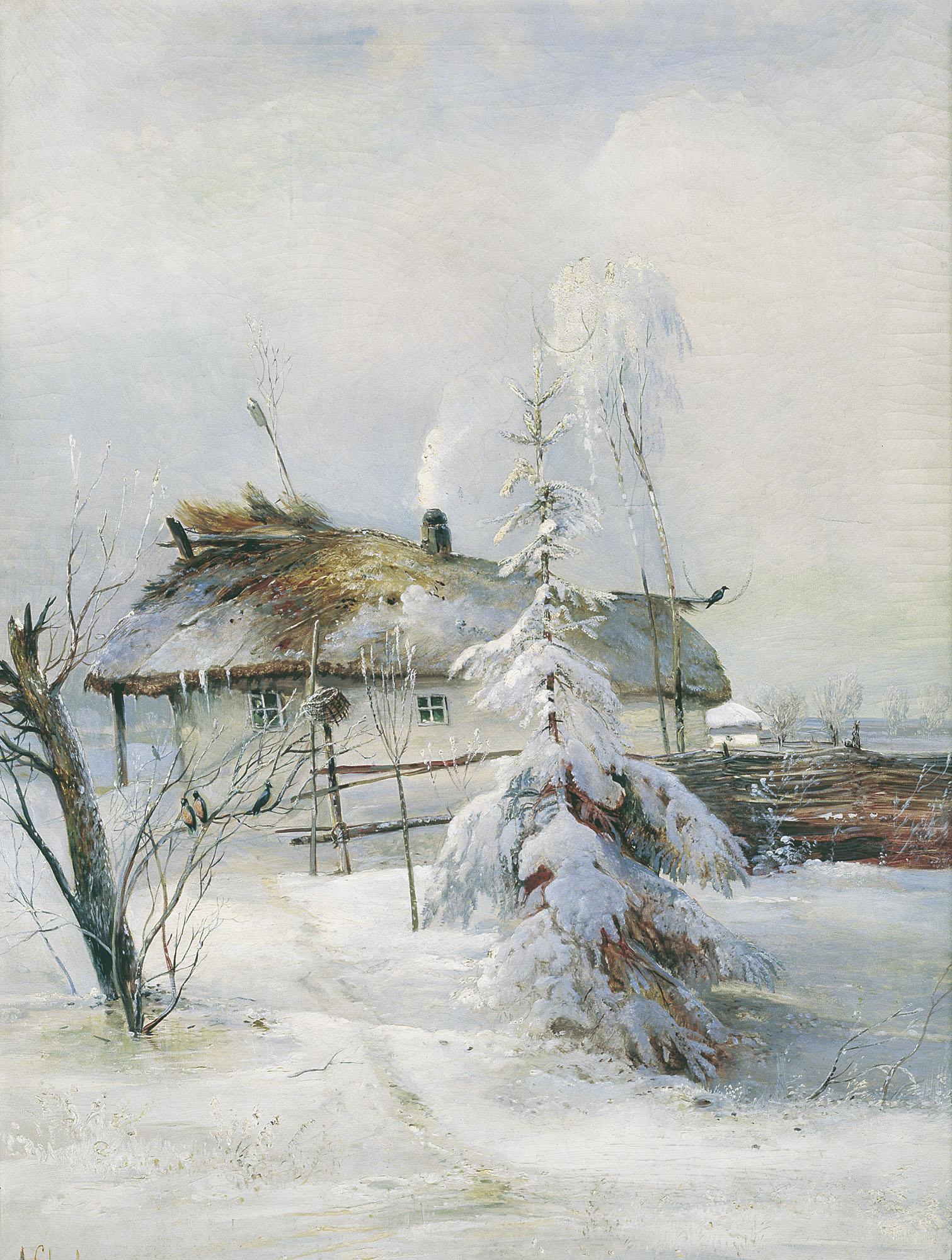 Описание картины Алексея Саврасова «Зима»