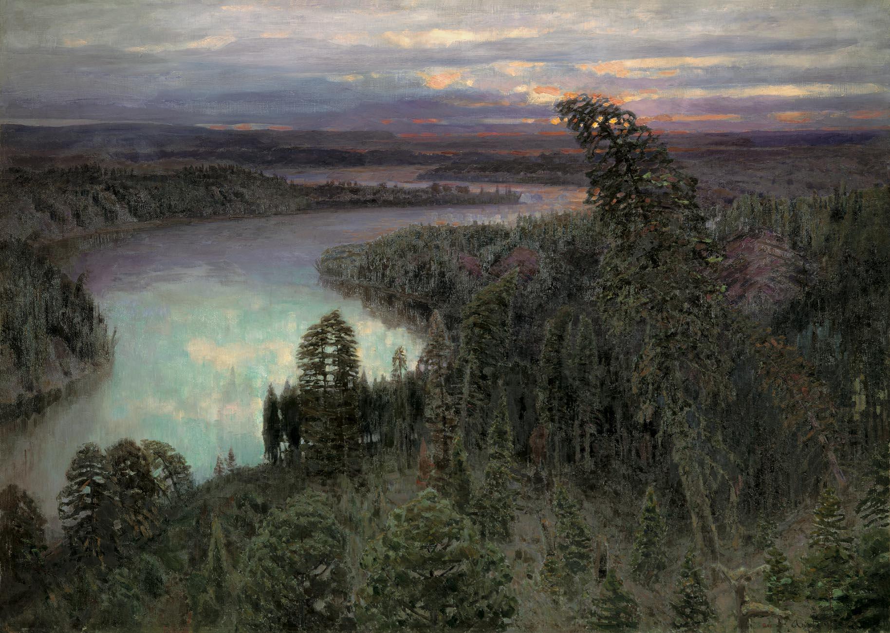 Северный край, Аполлинарий Васнецов, 1899 год, Русский музей, Санкт-Петербург.