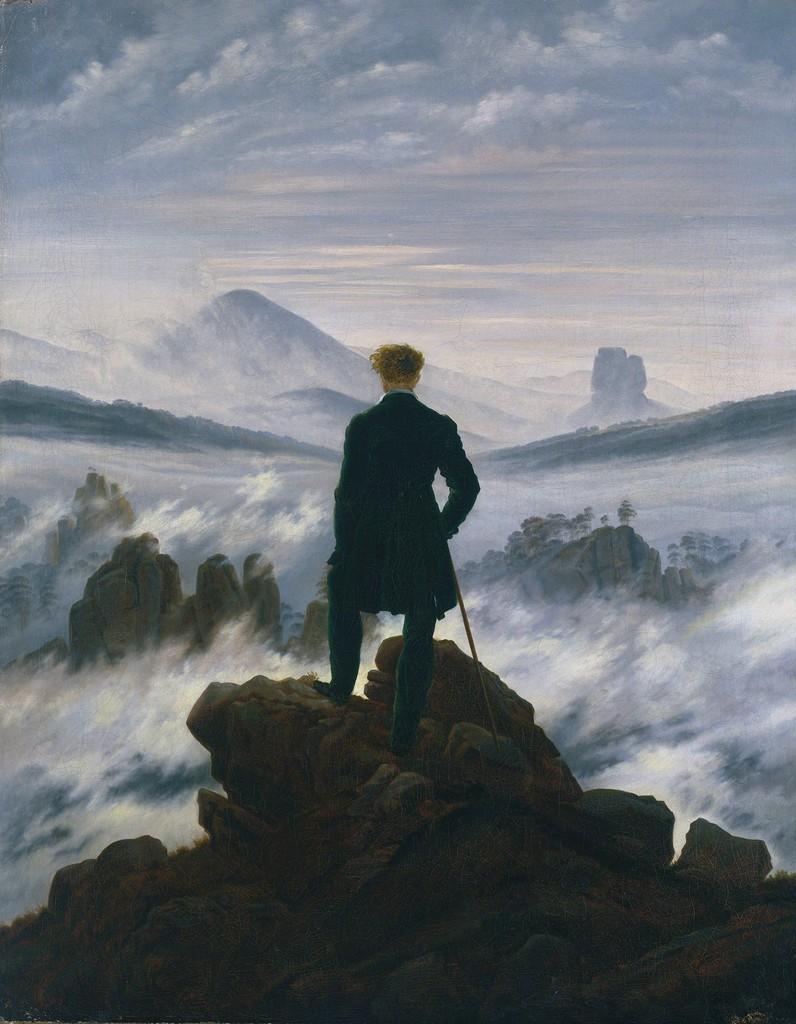 Каспар Давид Фридрих, 1818 год, картина «Странник над морем тумана».