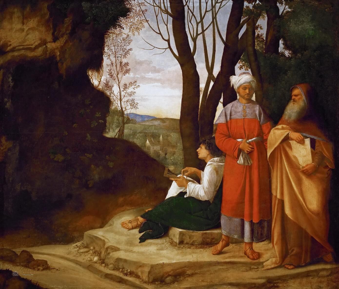 Три философа, Джорджоне, около 1505-1509 гг, Музей истории искусств, Вена.