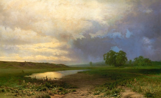 Описание картины «Мокрый луг» Федора Васильева