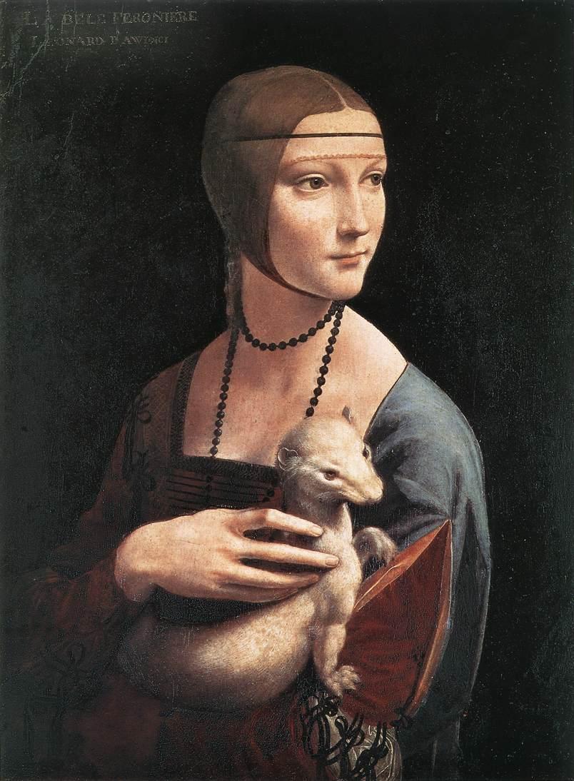 Описание картины «Дама с горностаем» Леонардо да Винчи