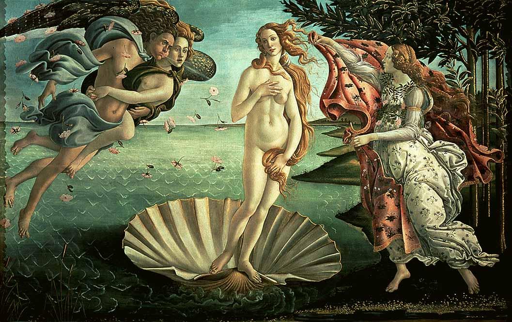 Описание картины «Рождение Венеры» Сандро Боттичелли