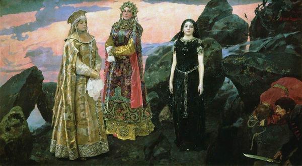 Описание картины «Три царевны подземного царства» Васнецова
