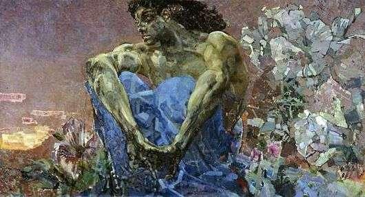 Описание картины Врубеля «Демон сидящий»