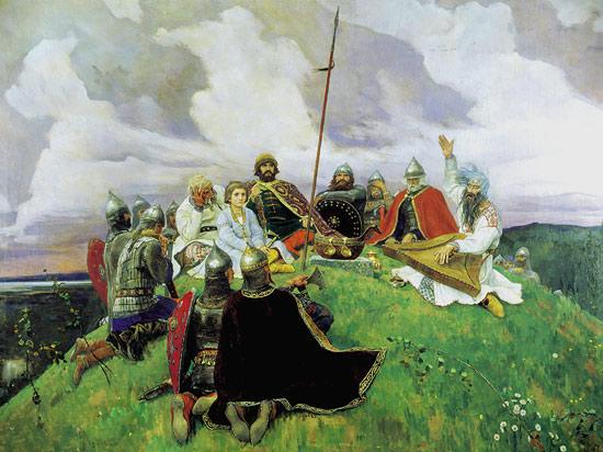 Описание картины Васнецова «Баян»