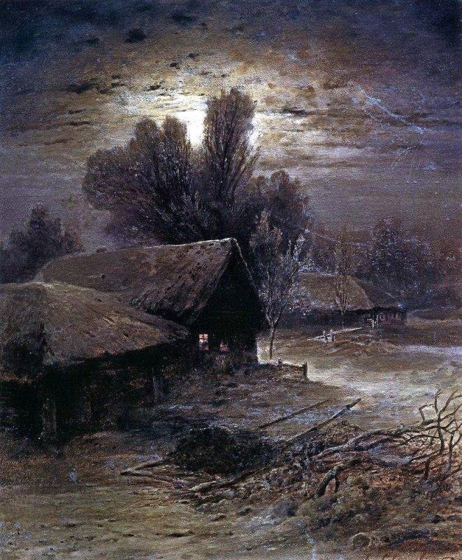 Описание картины Саврасова «Зимняя ночь»
