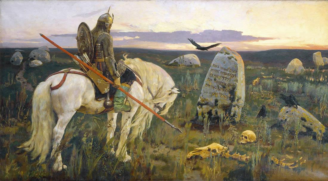 Описание картины Виктора Васнецова «Витязь на распутье»