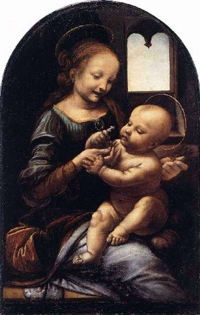 Описание картины «Мадонна с цветком» Леонардо да Винчи