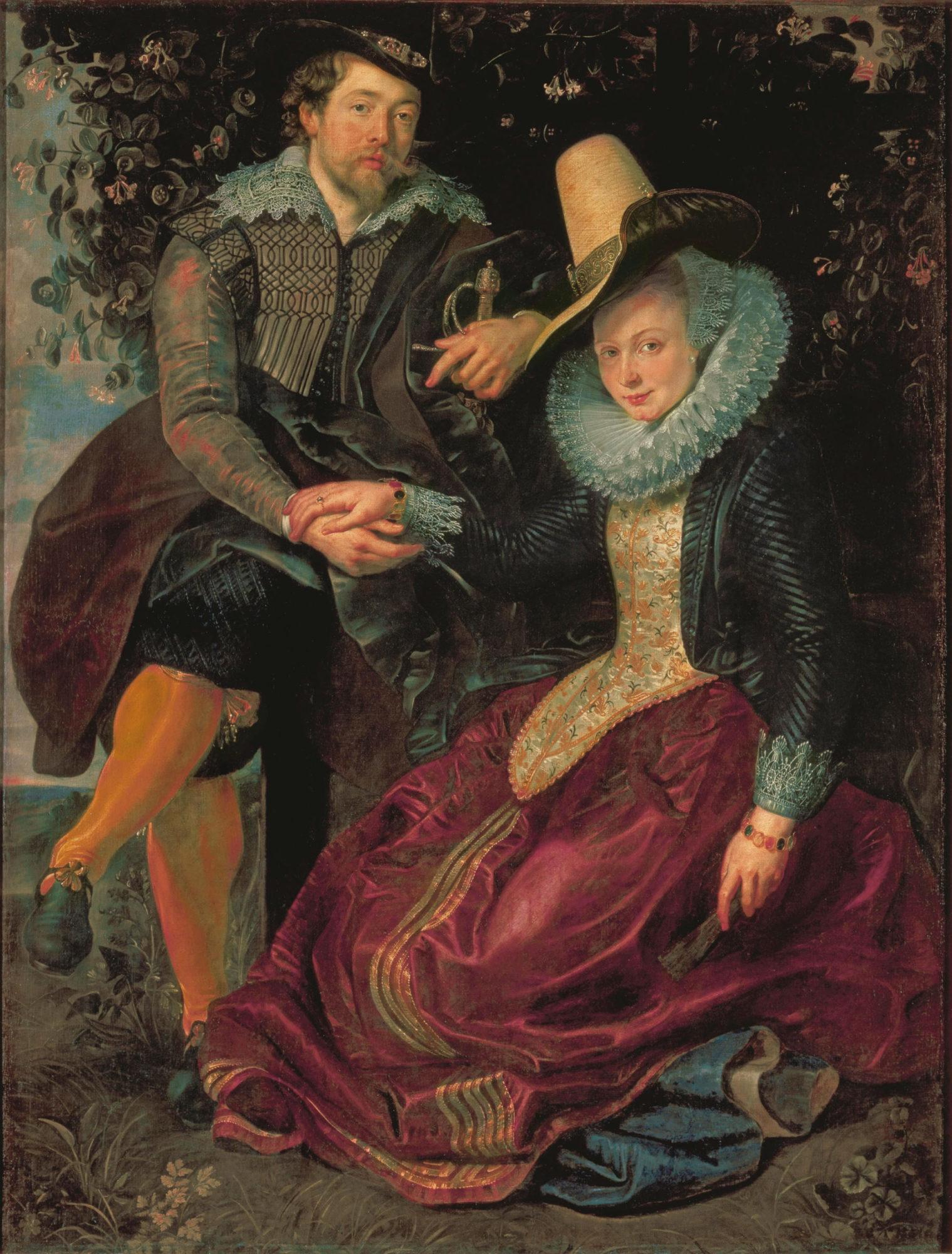 Питер Пауль Рубенс, 1609-1610 годы, картина «Автопортрет с Изабеллой Брант».