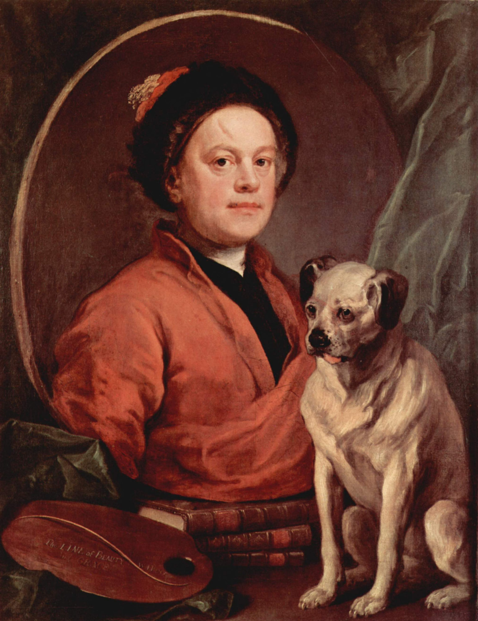 Уильям Хогарт, 1745 год, картина «Автопортрет с собакой»