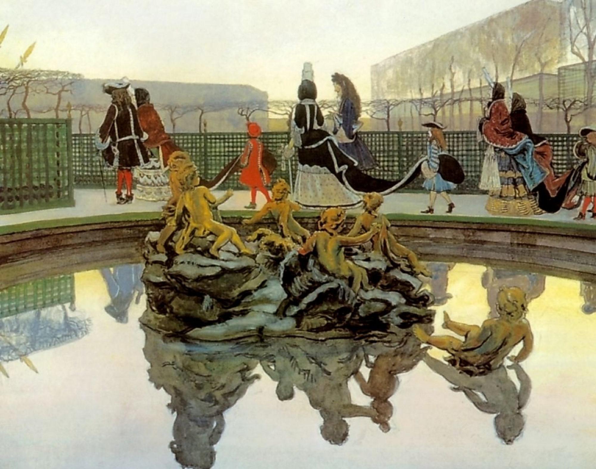 Александр Бенуа, 1906 год, картина «Прогулка короля»