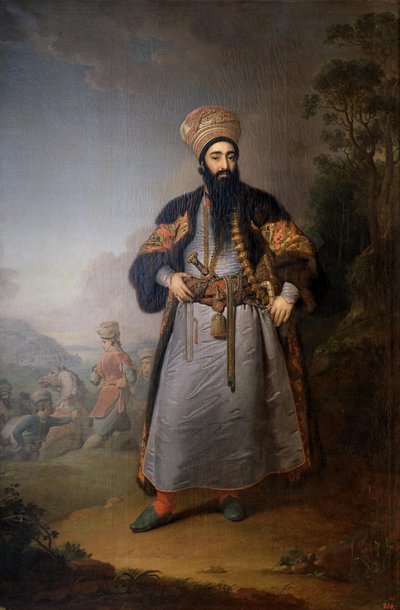 Владимир Боровиковский, 1796 год, картина «Портрет Муртазы-Кули-хана»