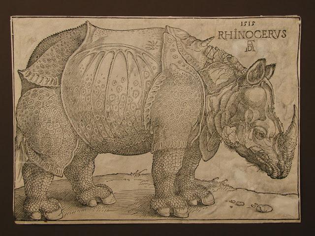 Альбрехт Дюрер, 1515 год,гравюра «Носорог»